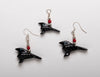 Mystic Raven Earring and Pendant Set
