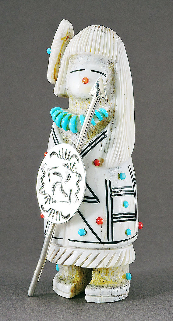 Warrior Maiden Of Antler With Sterling Silver Shield