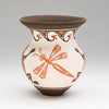 Frogs & Dragonflies Pottery Vase