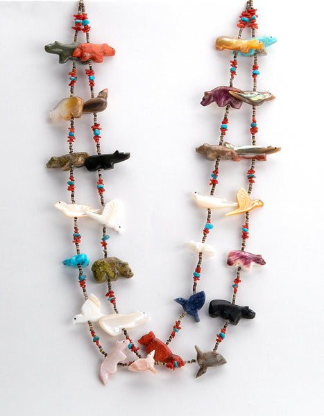 Plentiful Animals Double Strand Fetish Necklace