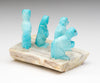 Turquoise Prairie Dogs On An Antler Base