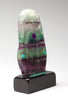 Fluorite Maiden Sculpture On Black Marble Base
