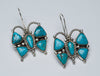 Natural Kingman Turquoise Butterfly Necklace and Earring Set