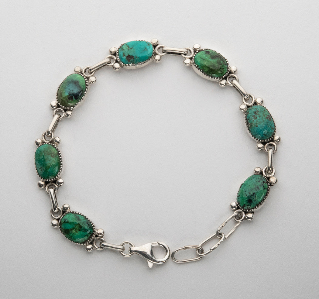Natural Fox Turquoise Link Bracelet