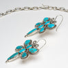 Glorious Kingman Turquoise Dragonfly Necklace & Earrings Set