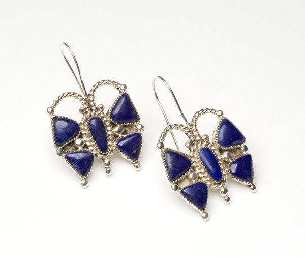 Natural Lapis Butterfly Earrings