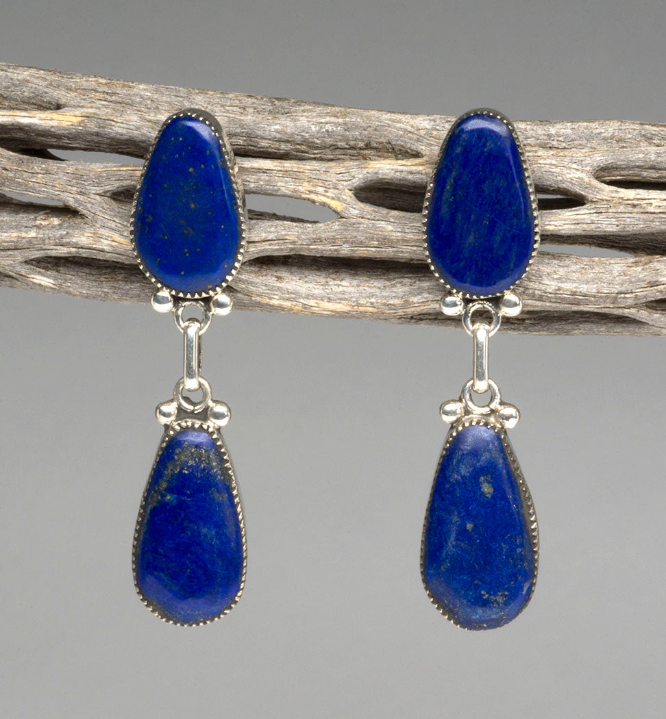 All Natural Lapis Lazuli Earrings