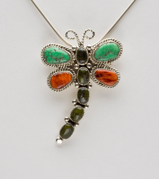 Multi-Colored Dragonfly Pin/Pendant