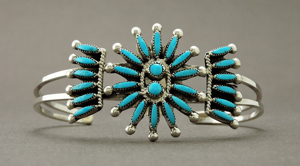 Turquoise Petit Point Cuff