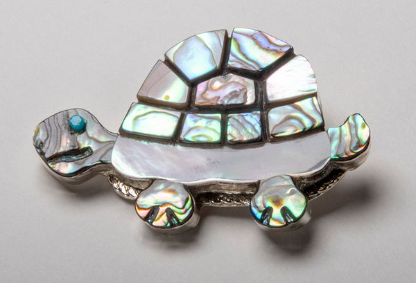 Light Hearted Turtle Pin/ Pendant