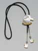 Gold Lip & Mother Of Pearl Shell Eagle Bolo Tie