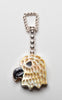 Reversible Gold Lip Shell & Mother-Of-Pearl Eagle Head Pendant