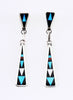 Exquisitely Inlaid Dangle Earrings