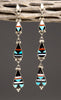 Elegant Inlaid Dangle Earrings