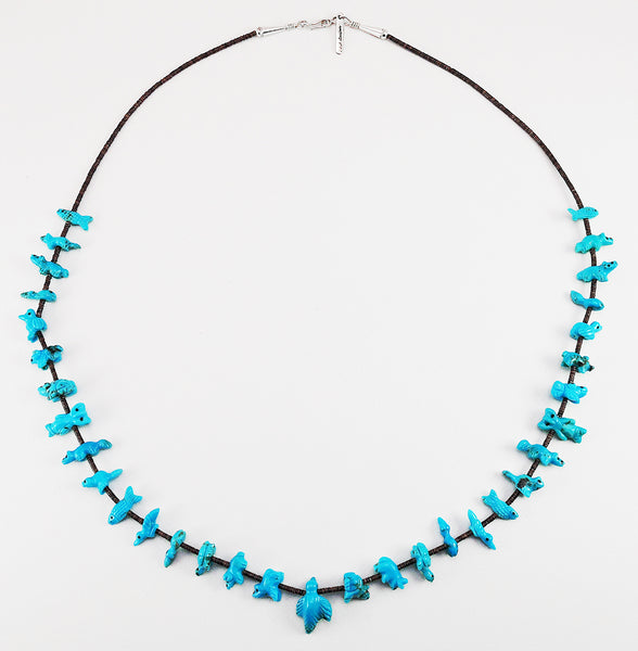 Collector's Many Animals Turquoise Fetish Necklace
