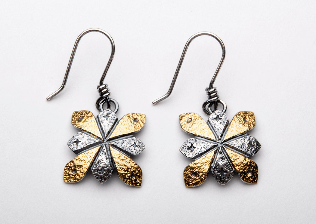 Keum-Boo 24K Gold & Sterling Silver Earrings