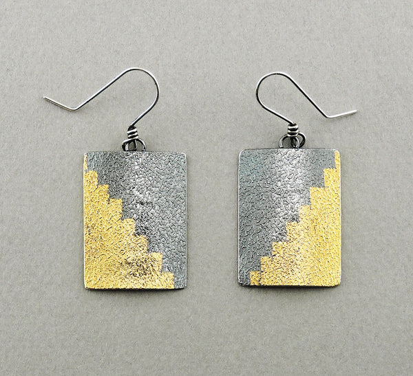 Radiant Gold Foil Earrings