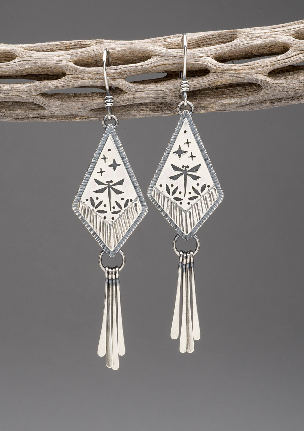 Dragonfly And Star Dangle Earrings