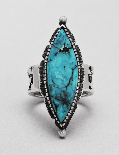 Exceptional Turquoise & Sterling Silver Ring