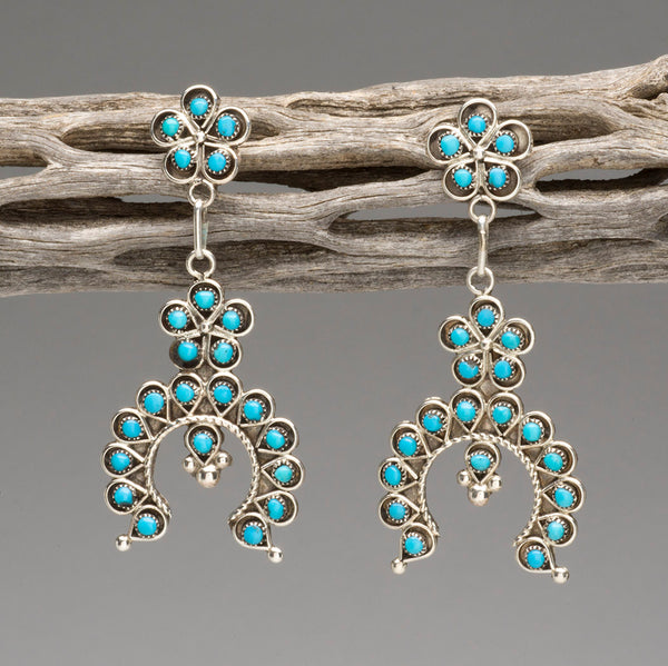 Sleeping Beauty Turquoise Naja Earrings