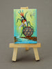 Small Corn Maiden Painting With Wooden Easel
