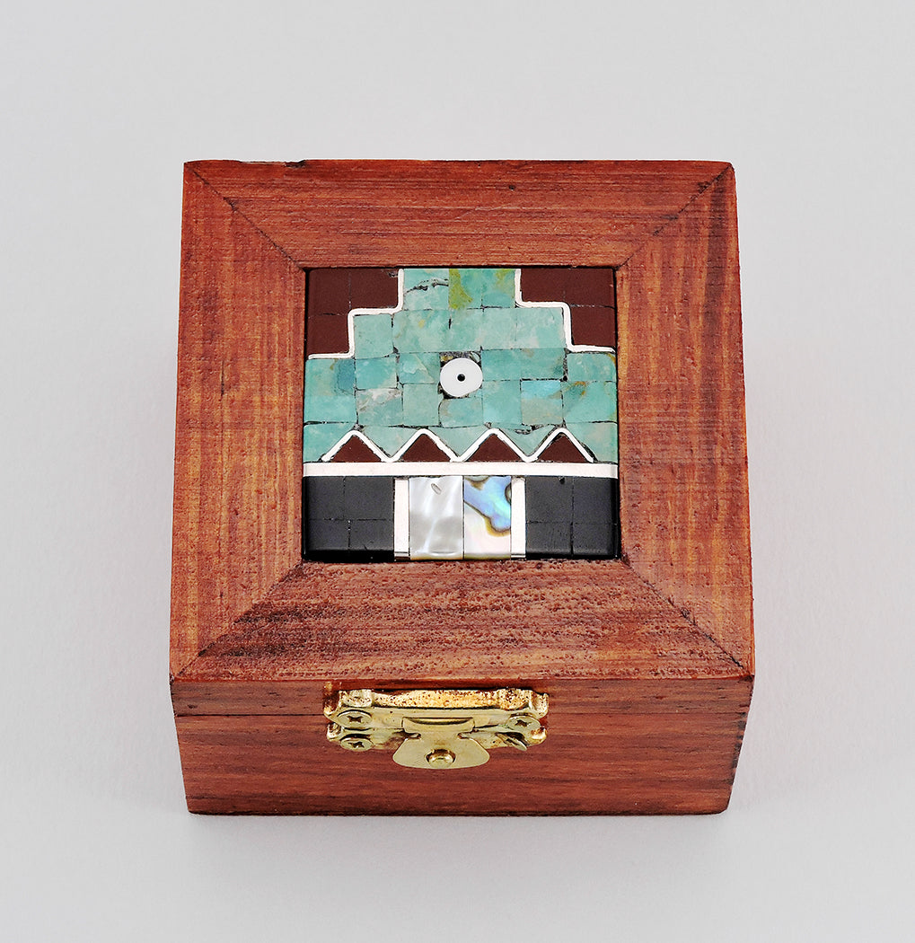 Wooden Box With Mosaic Inlay