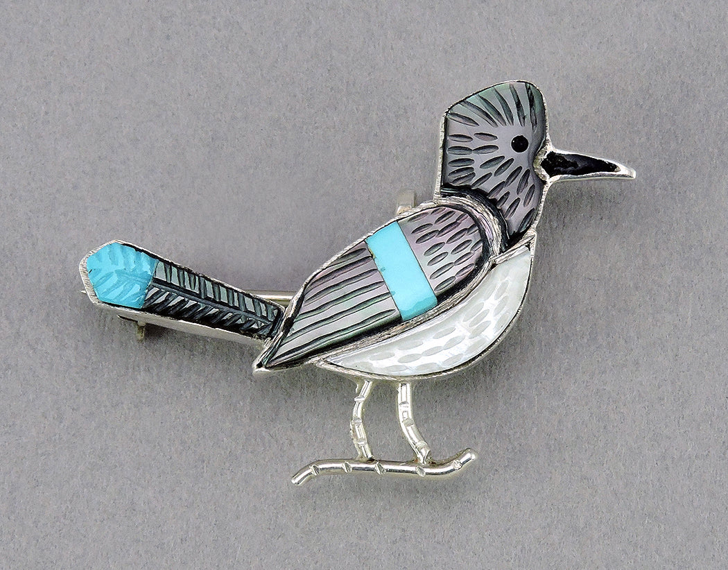 Crested Blue Jay Pin/Pendant