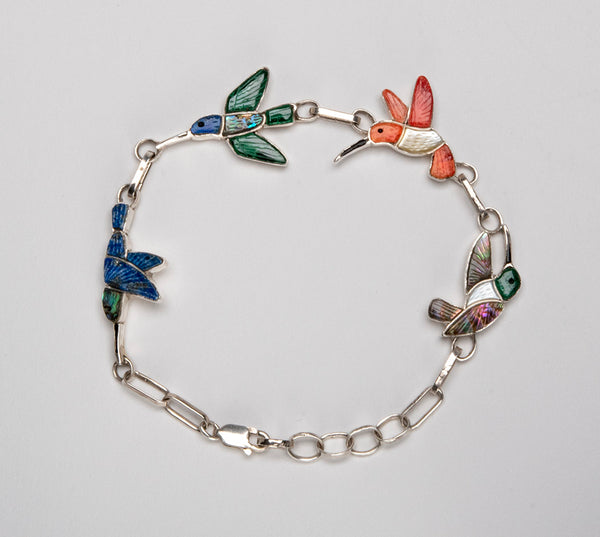 Flying Hummingbird Link Bracelet