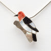 A Red-Headed Woodpecker Pin/Pendant