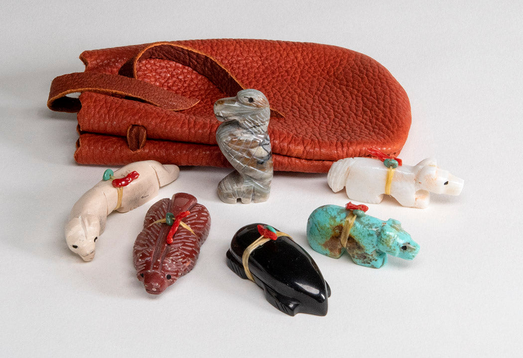 Healing and Protection Set With Leather Pouch