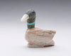 Zuni Duck Of Serpentine, Turquoise & Mother-Of-Pearl
