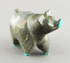 Charming Pig Of Zuni Travertine
