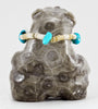 Petoskey Stone Bear With Offering Necklace