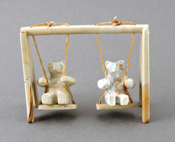 Swing-Set Bears Of Picture Jasper & Picasso Marble