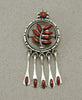 Red Coral Petit Point Pin/Pendant