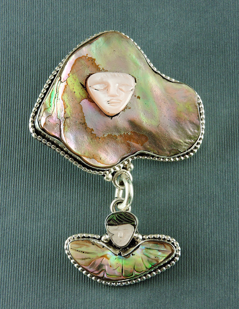 Guadalupe With Angel Pendant