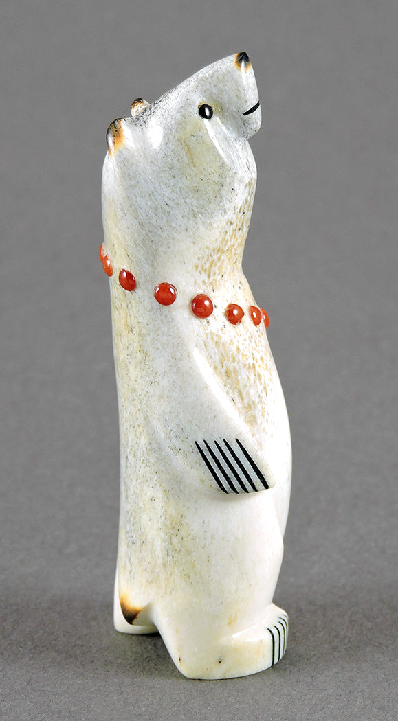 Bear With Red Coral Necklace