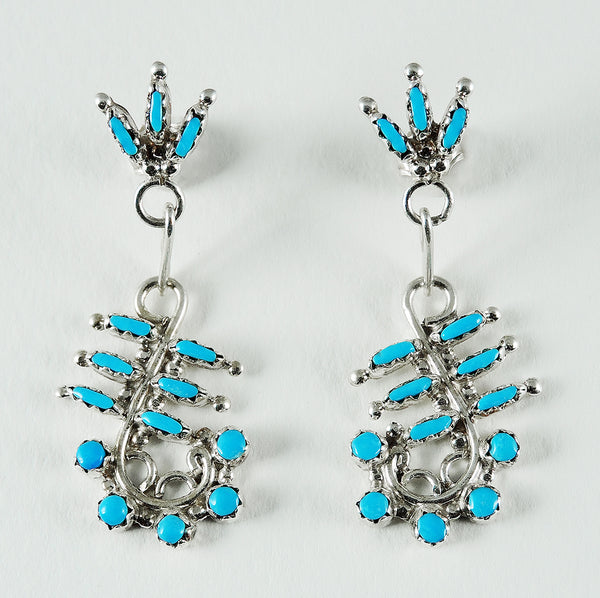 Sterling Silver & Sleeping Beauty Turquoise Earrings