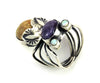 Sugilite, Tiger's Eye & Opal Flying Bug Ring