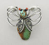 Kingman & Number 8 Mine Turquoise Insect Cuff Bracelet