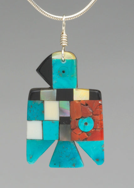 Two-Sided Thunderbird Mosaic Pendant