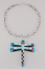 Reversible Mosaic Dragonfly Pendant With Chain Necklace