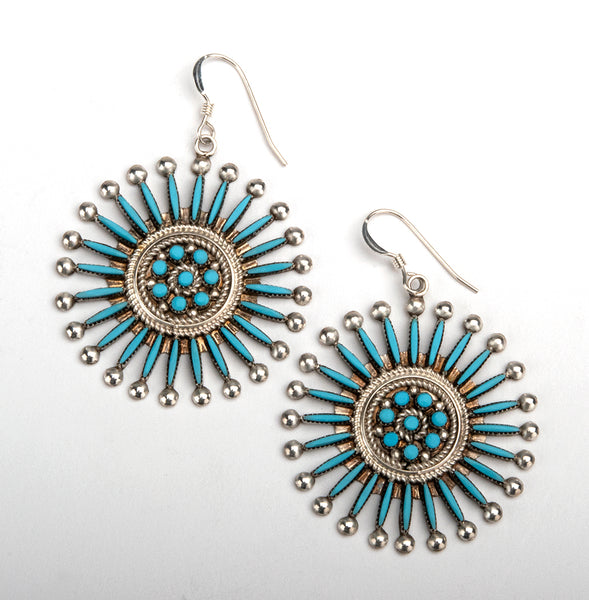 Sleeping Beauty Turquoise Traditional Earrings