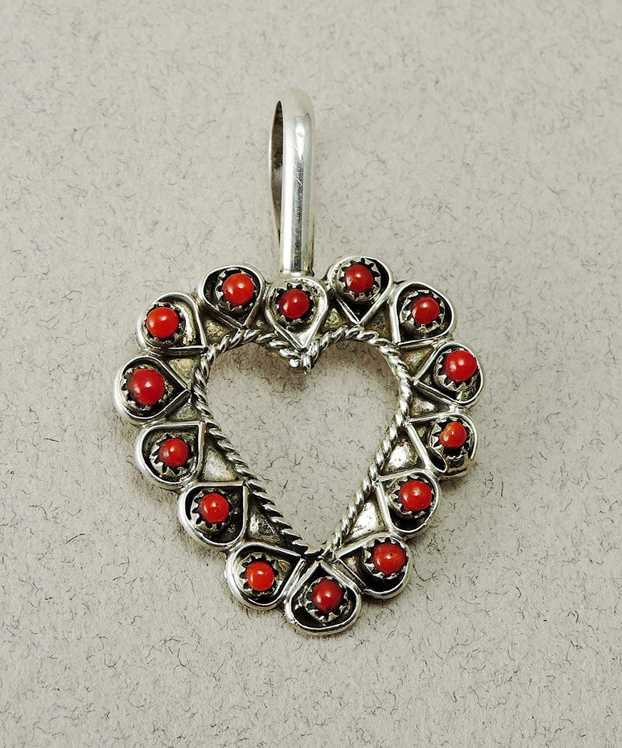 Be Mine, Valentine! Heart Pendant Of Red Coral