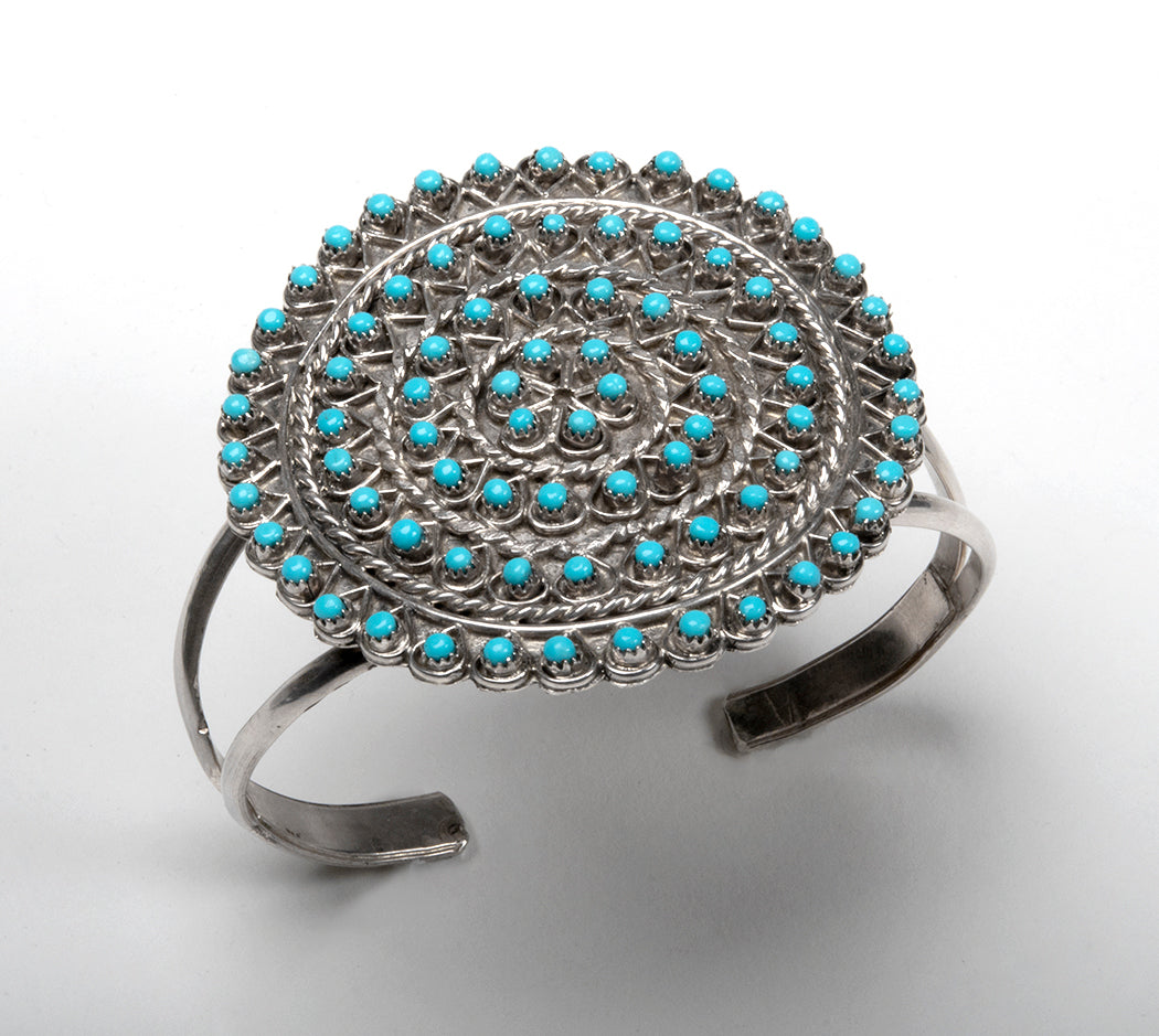 Sleeping Beauty Turquoise Snake Eye Cuff Bracelet