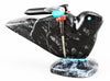 Magical Picasso Marble Bird On Pietersite Base