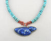 Fly-Away Lapis Lazuli Bird Pendant Necklace