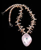 Reversible Corn Maiden Necklace Of Pink Mussel Shell & Fresh Water Pearls