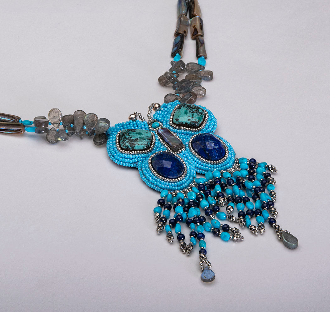 Beaded Zuni Butterfly Necklace