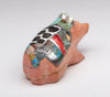 Dolomite Badger With Colorful Inlay